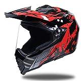 Off-Road Full Face Motorcycle Helmet,Adult Anti-UV Lens Flip Up Motorbike Helmet,Moto Motorcross Safety Caps 55-62cm