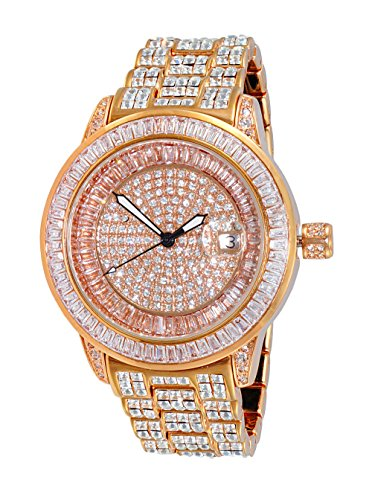 Adee Kaye Men's Quartz Brass Dress Watch, Color Rose Gold-Toned (Model: AK3132-MRG)