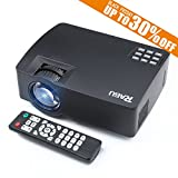 Smartphone Projector for iPhone Android Tablet, RAGU Z480 Mini Portable Video Projectors via Wired USB Data Cable Support HD 1080P, Max 130'' Screen Optical USB/AV/SD/HDMI/VGA Interface LED Projector