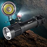 ANO SCI501 Dive Light 26650 Battery Included True 1000 Lumens, Scuba Diving Light with Push Power Switch, Underwater Light Primary Dive Lights with 650ft/200M Waterproof