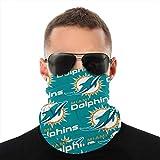 ZKHAKLG Miami Dolphins Bandanas,Neck