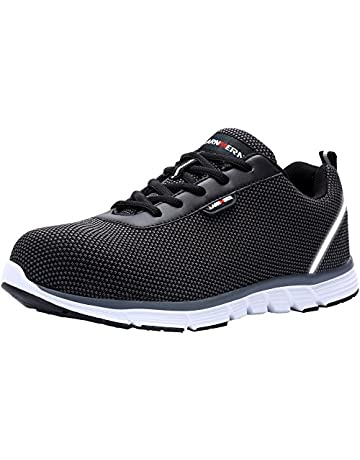 sports shoes df890 1a333 LARNMERN Steel Toe Work Safety Shoes Men Reflective Casual Breathable  Outdoor Sneakers, LM30K