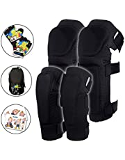 Innovative Soft Kids Knee and Elbow Pads with Bike Gloves - Toddler Protective Gear Set w/Mesh Bag& Sticker CSPC Certified - Roller-Skating, Skateboard Knee Pads for Kids Child Boys Girls