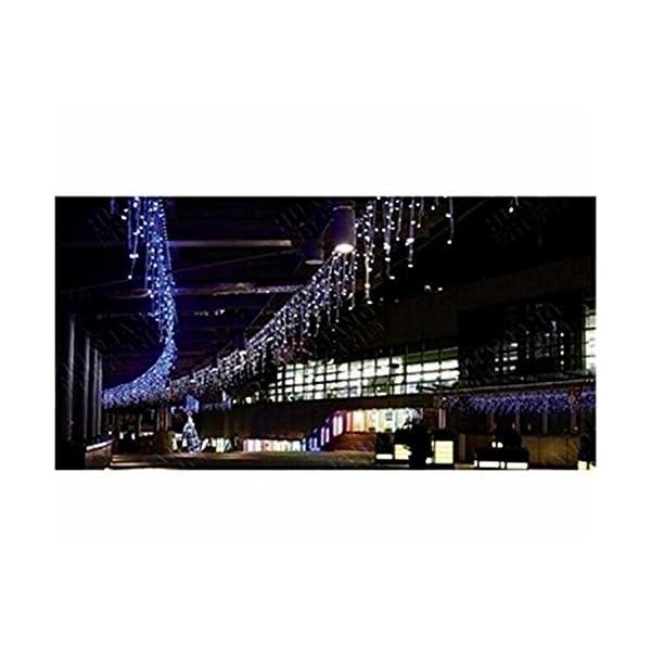 LED Tenda Luminosa, Catena Luminosa, Luci cascata, Luci per Tende, 216 LEDs 5M Natale Luci Stringa Bianco Caldo 8 Modalità Impermeabili IP44, per Natale finestra, porta, patio, giardino, feste, Blu 7 spesavip