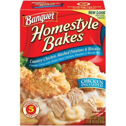 Banquet, Homestyle Bakes, Country Chicken & Mashed Potatoes, 30.9oz Box (Pack of 3) ()