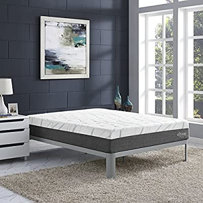 "Modway Elysse 12"" Twin Hybrid Mattress - Cooling Mattress With Gel Infused Memory Foam - Firm Mattress - Side Edge Support - CertiPUR-US Certified - Memory Foam Innerspring Mattress - Available In Twin - Full - Queen - King Sizes"