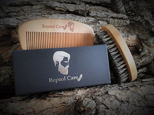 Beard-Brush-and-Beard-Comb-kit-for-Men-Grooming-Styling-Shaping-Handmade-Wooden-Comb-and-Natural-Boar-Bristle-Beard-Brush-set-for-Men-Beard-Mustache-by-Rapid-Beard