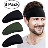 Self Pro Mens Headbands - Guys Sweatband & Sports Headband for Running, Cross Training, Working Out, Racquetball - Performance Stretch & Moisture Wicking