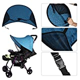 Universal Sunshade and Sunscreen Cover for Baby Car Advanced Style Blue