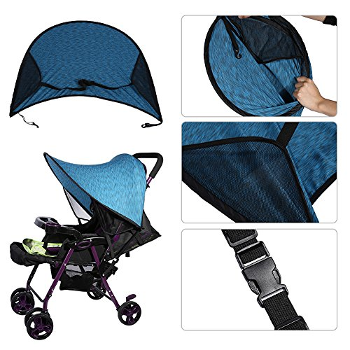 Universal Sunshade and Sunscreen Cover for Baby Car Advanced Style Blue by Yosoo (Image #6)