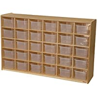 Wood Designs WD16031 (30) Tray Storage with Translucent Trays, 36 x 58 x 15 (H x W x D)