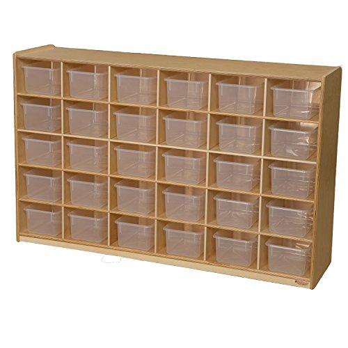 Wood Designs WD16031 (30) Tray Storage with Translucent Trays, 36 x 58 x 15″ (H x W x D)