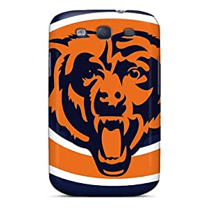 New WHK2488PEGj Chicago Bears Skin Cases Covers Shatterproof Cases For Galaxy S3