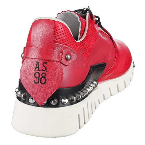 As98 Sneaker In Lampone-rot As-647101-0401 Lampone (rot)