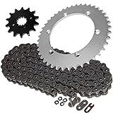 Caltric Steel O-Ring Drive Chain & Sprocket Kit Fits KAWA...