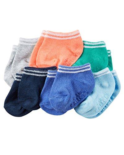 Carter's Baby Boys' 6-Pack Socks, Blue/Multi, 12-24 Months