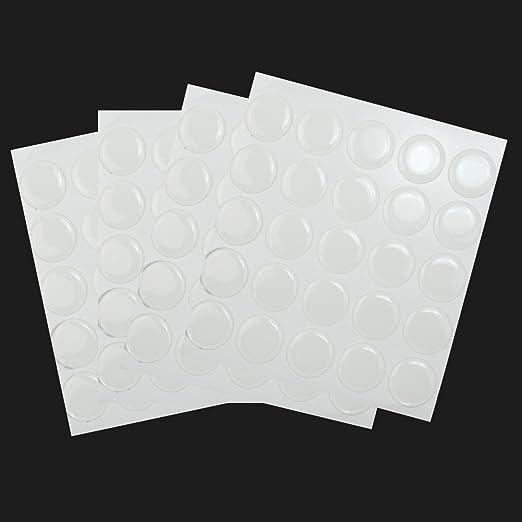 80x Calidad 1 pulgada clara Adhesivo cúpulas de resina epoxi Adornos Tapón De Botella