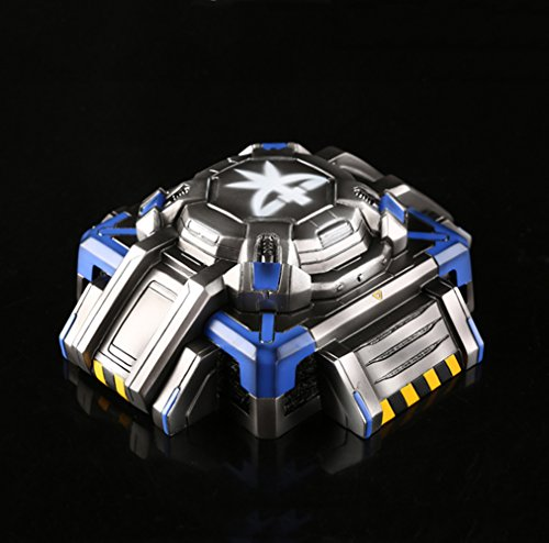 YOURNELO Creative SC Starcraft Cigarette Ashtray Holder with Lid for Home (Sapphire)