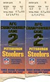 tickets wwe - Pittsburgh Steelers AFC Championship Game Jan 14th 1996 2 Ticket Lot