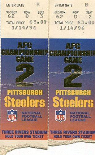 Pittsburgh Steelers AFC Championship Game Jan 14th 1996 2 Ticket ()