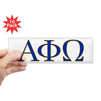 cafepress alpha phi omega letters 10x3 rectangle bumper sticker car decal