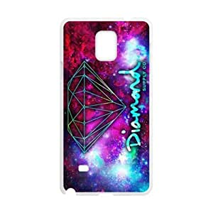 Diamond Supply Co Design Hard Protective Plastic Back Black and White Case Cover for Samsung Galaxy Note 4(3)