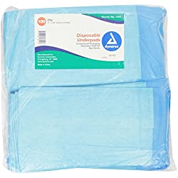 Dynarex Disposable Underpad, 17 X 24 Inches, 100 Count