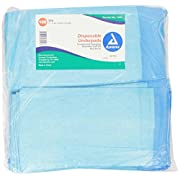 Dynarex Disposable Underpad, 17 inches X 24 inches, 100 Count