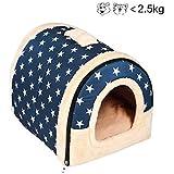 Enko 2 en 1 Cómodo Casa para Mascotas y Sofá, De Alta Calidad En Interiores y Exteriores Portátil…