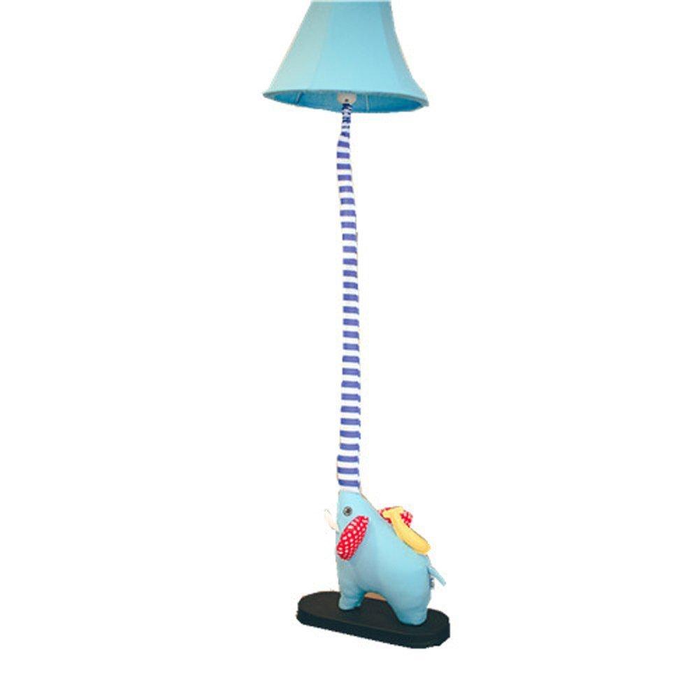 GX Stehlampe Kreative Cartoon Schöne Elefanten Nase Stehlampe Schlafzimmer Lampe Wohnzimmer Kinderzimmer Rustikalen Stil Tuch Lampe Haus Dekoration A+