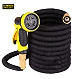 2019 New 50ft Expandable Garden Water Hose,Natural Latex Core,Super Strong Brass Connectors,10 Function Spray Nozzle,Super Strength Fabric,Garden Hose For Water Plants,Shower Dogs,Wash Cars.