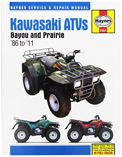 Kawasaki Bayou & Prairie ATV Haynes Repair Manual (1986 - 2011) (Atv Kawasaki Repair Manual)