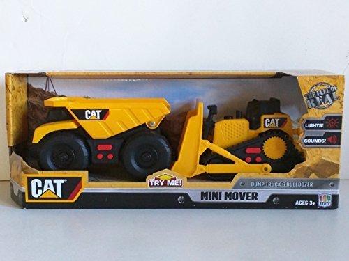 CAT Mini Mover Dump Truck & Bulldozer Construction Toy ()