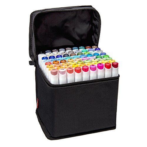 Bianyo Classic Series Alcohol-based Dual Tip Art Markers (Set of 72, Travel Case)