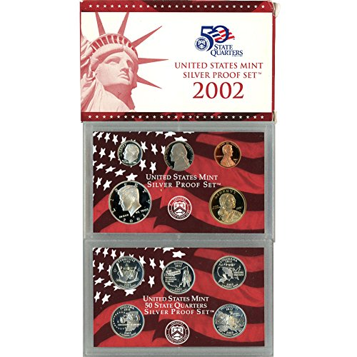 2002 S US Mint 10 Coin Silver Proof Set Original Government Packaging