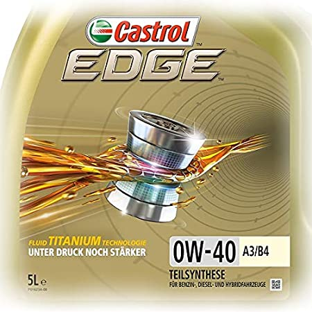 1 L 5 L 6 Liter Castrol Edge Fluid Titanium 0w 40 A3 B4 Motoröl Inkl Castrol Ölwechselanhänger Auto