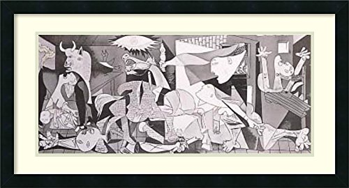 Framed Art Print 'Guernica, 1937' by Pablo Picasso - Picasso Guernica 1937