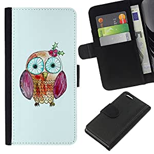KingStore / Leather Etui en cuir / Apple Iphone 5C / Kid Dibujo Monada Ojos Escuela Maestro