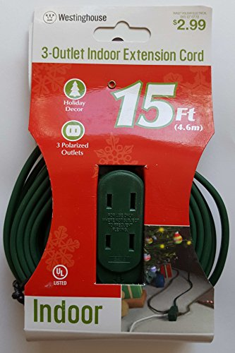 (Westinghouse 3-Outlet 15ft (4.6m) Indoor Extension Cord)