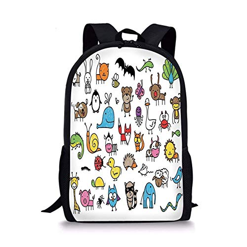 School Bags Doodle,Collection of Cartoon Style Animals for sale  Delivered anywhere in Canada