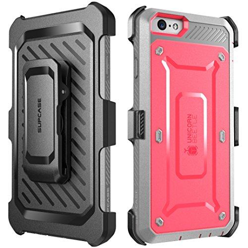 iPhone 6S Case, SUPCASE Apple IPhone 6 Case / 6S 4.7 Inch display [Unicorn Beetle Pro] Rugged Holster Cover with Builtin Screen Protector (Pink/Gray)