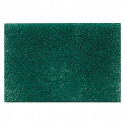 Commercial Heavy-Duty Scouring Pad, Green, 6 x 9, 12/Pack 86 - 1 Each