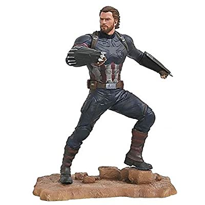 DIAMOND SELECT TOYS Marvel Gallery: Avengers Infinity War Movie Captain America PVC Diorama Figure: Toys & Games