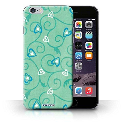 iCHOOSE Print Motif Coque de protection Case / Plastique manchon de telephone Coque pour iPhone 6+/Plus 5.5 / Collection Coeur Vigne Motif / Turquoise/Bleu