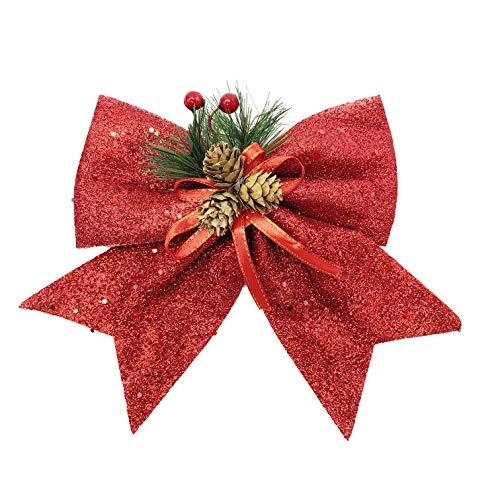 allgala Christmas Decorative Bows for Wreath Garland Treetopper Christmas Tree (9