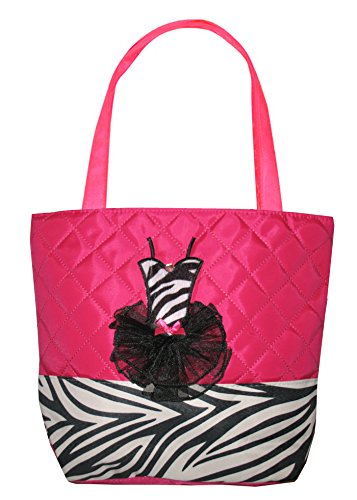 Tote Bag Quilted Zebra Hot Pink