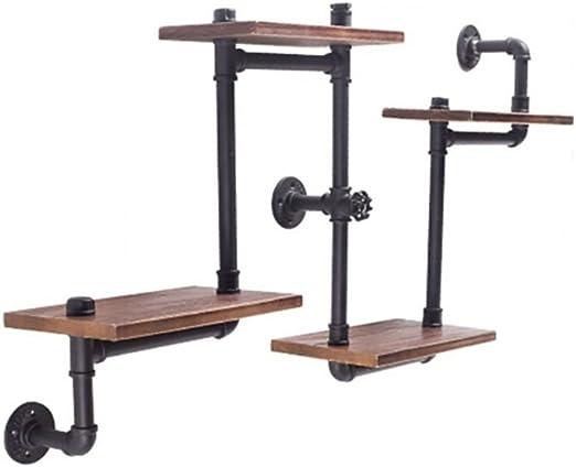 Estantes de pared Industrial Style 4 Tier Shelving Unit Rustic Floating Shelves Estantería para baño Hierro