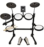 RockJam Mesh Head Kit, Eight Piece Electronic Drum Kit with Mesh Head, Easy