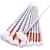 Asien 10pcs Make Up Pinsel Set professionelle Kosmetik Make-up Pinsel Brush Kit für Stiftung Augenbraue Eyeliner Einhorn Design
