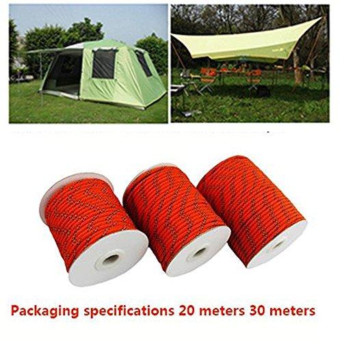 Beautyrain Multifonction extérieur Guyline Camping auvent Tente Cordes corde ligne corde à linge corde corde à linge 20M